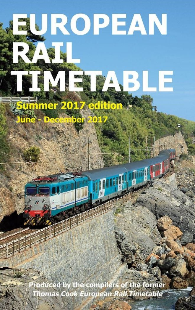 European Rail Timetable, Summer 2017 (June - December)